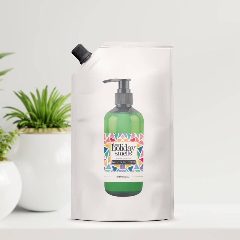 How Holiday Smells Hand Soap Refill Pack with the goodness of Soothing Aloe and Skin-softening Olive Oil by kimirica