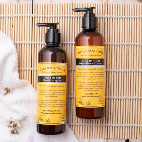 Pharmacopia Citrus Bath Care Duo with the goodness of the natural fruit extracts and Vitamin E by kimirica