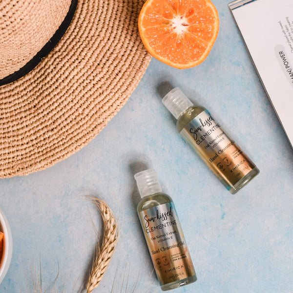 Sun-kissed Clementine Sanitizer Hand Cleansing Gel with the goodness of Vitamin E, Oat Kernel extracts & Aloe Vera by kimirica
