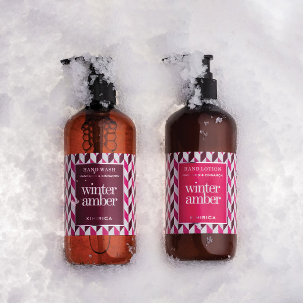 Winter Amber Hand Wash And Hand Lotion With The Goodness Of Shea Butter And Olive Oil By Kimirica