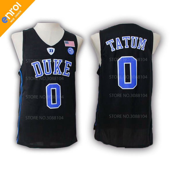 Men Cheap Jayson Tatum Basketball Jerseys 0  Duke University Blue ... b22430ebd