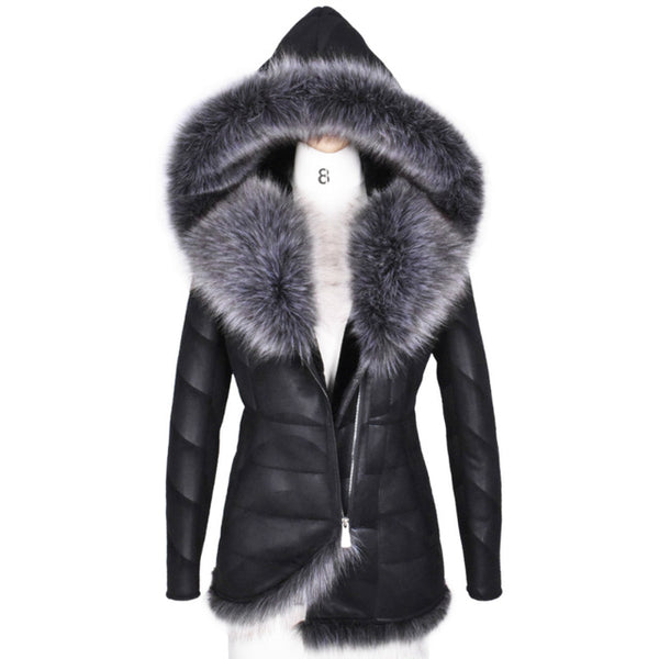 984c4b7205c 2017 New Winter Women Coat Very Warm Artificial Fox Fur Thick Hooded  Outerwear Plus Size 3XL