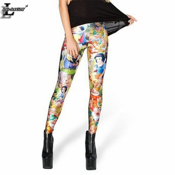 2017 Snow White Princesses Digital Printed Leggings Gothic Creative Interest  Fashion Fitness Women Popular Pants BL-473