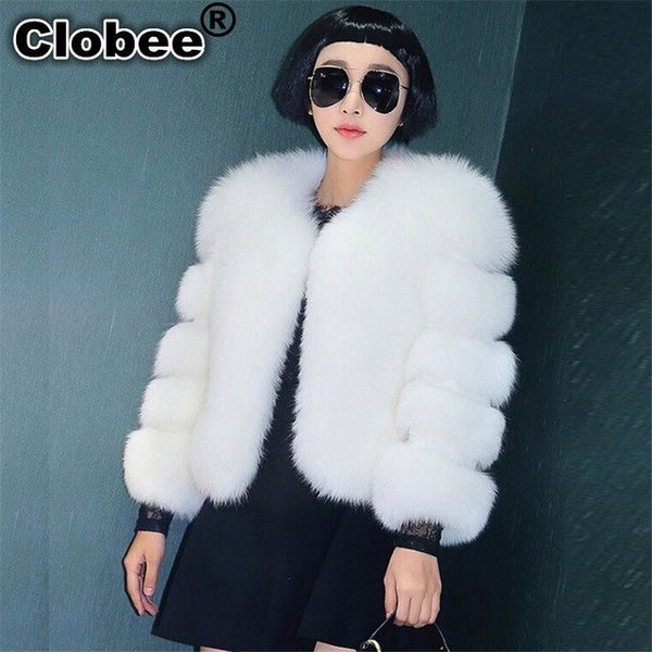 2020 2020 Winter Women Faux Fur Coat Women Clothes 2020 Winter Female Faux Fox Fur Fall  Short Coat