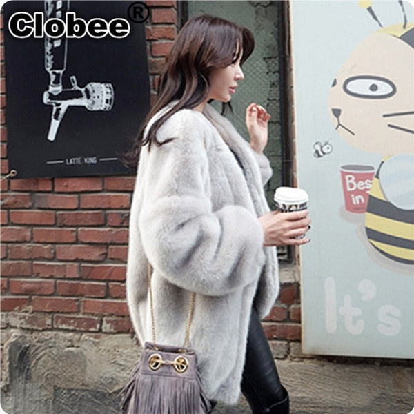 2020 6XL Winter Warm Fur Coat Fsahion Long Women Black Faux Mink Fur Vest Faux Fur Coat Fox Fur Coat Colete Feminino Jackets
