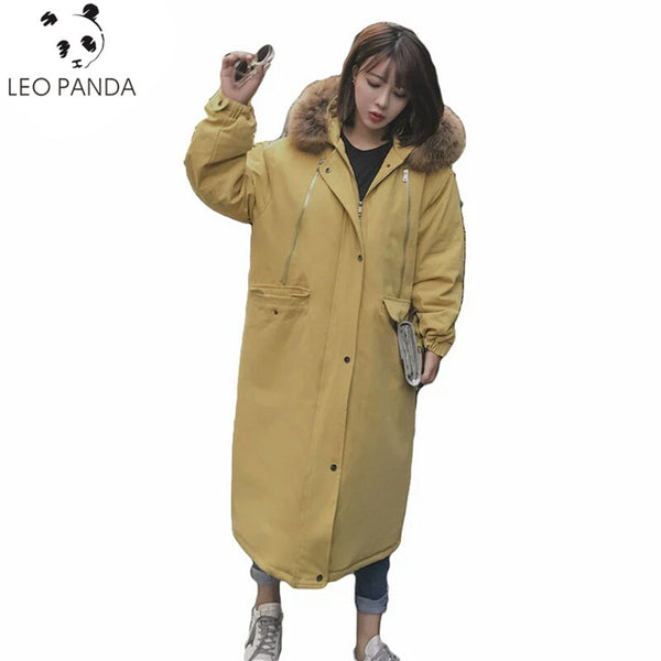 2018 Fashion Winter Oversized Loose Hooded Parka Casual Cotton Padded Coat Thick Jacket Female Down Cotton Overcoat Plus Size