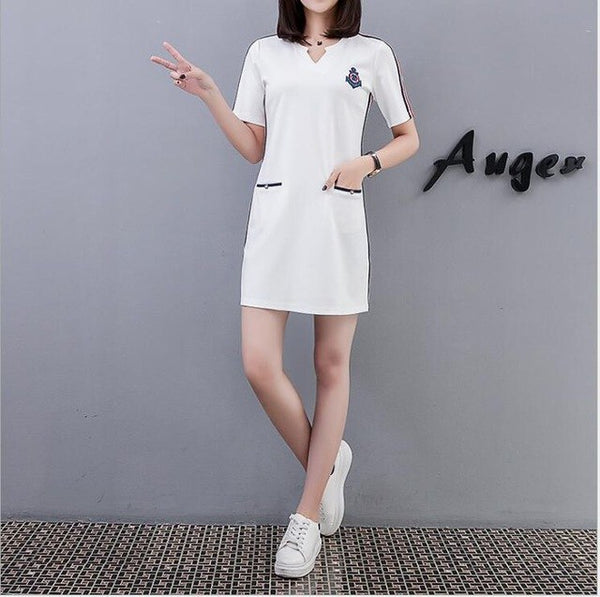 2020 Spring and Autumn women's clothing plus size S-4XL  stylish comfortable dress clothing female and students