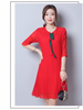 2020 Summer Women Office Lady Female Dresses Clothing Plus Size 3XL 2XL High Street Stylish Butterfly Knot Slim Dress MA76