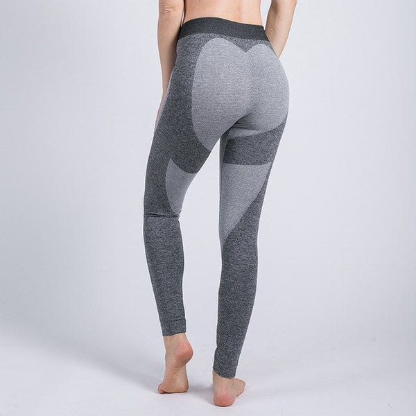 2020 Women Fashion Push Up Ladies Mesh Pants Love Heart Gray Leggings Casual Pants High Waist Sexy Leggings
