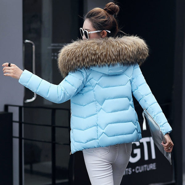 2020 Women Thick Warm Faux Fur Parkas Hooded Jacket Coat Plus Size Long Sleeve Outerwear Snow Wear Female Casual Winter Clothes