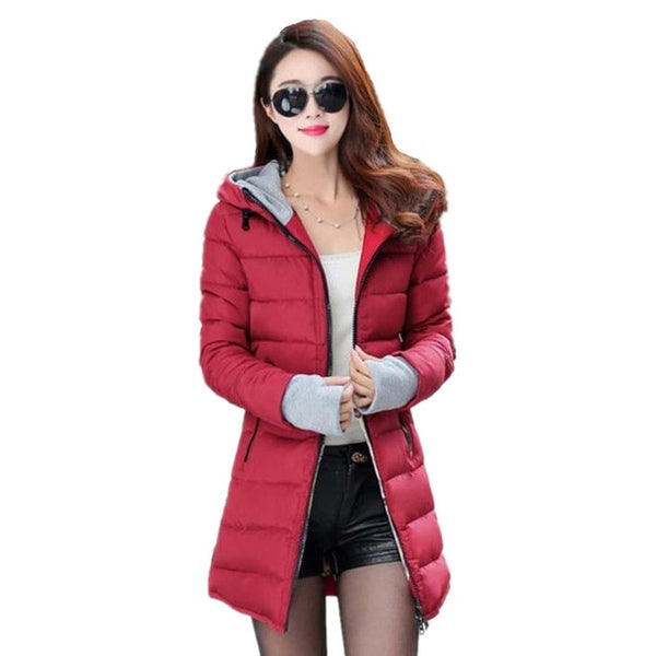 -30 Degree Russia Winter Female Women Down Jacket Cotton Jacket Wadded Clothing Slim Plus Size M-XXXL Parkas 2020 Ladies Coats
