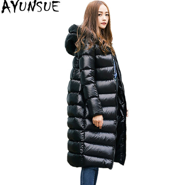2020 Light Down Jacket Women Winter Warm Coats Black Overcoat 90% White Duck Down Coat Female Long Jackets Parka WYQ799