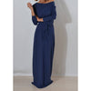 Autumn Women Long Maxi Dress Slash Neck Sashes Winter Dresses Casual Long Sleeve Solid Dress Casual Plus Size GV028