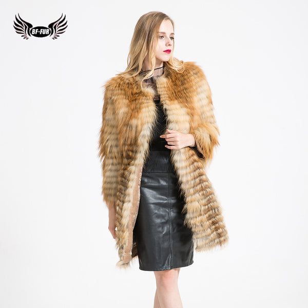Winter Coats Real Fur Fox Fur Coat Shop Real Fur Jacket Breast Expansion Fox Fur Vest 2017 New Arrival BF-C0300