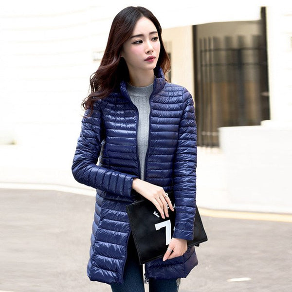 Spring plus size 4XL Parka Jacket Women Winter Coat Womens Medium-Long stand collar down Cotton Padded Warm Jacket Coat