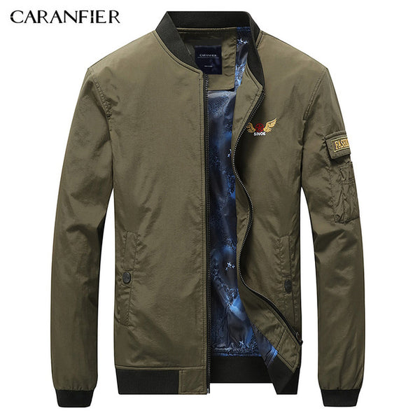 Men Business Casual Jacket 2017 New Fashion Pockets Jackets Slim Stand Collar Bomber Supreme Cloth Autumn Jacket M-4XL