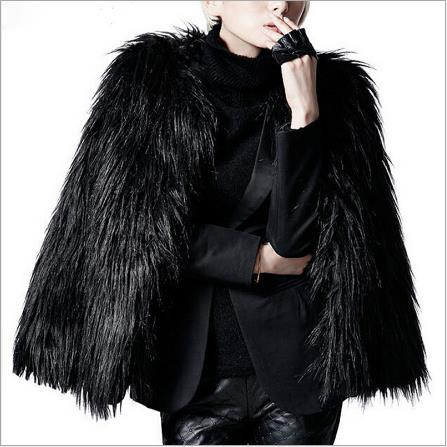 Women faux fur Coats 2020 Women Winter Black Fur Coat Outerwear Seyx Ladies Long Sleeve Short Fake Fox Fur Jackets M770