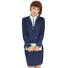 Elegant Work Wear Jacket and Skirt Gray Blazer With Skirt 2 Piece Set Office Lady Uniform Designs Formal Skirt Suit S-4XL