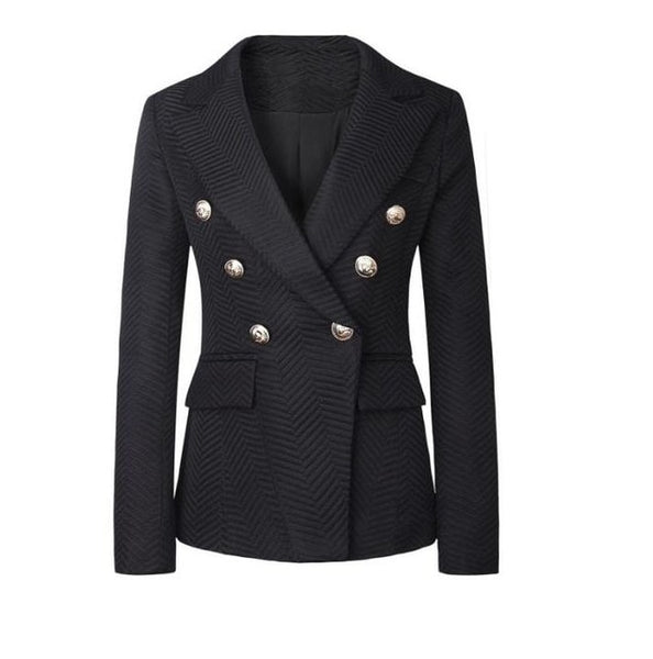 Fashion European Women's Suit Jacket 2017 autumn winters Stylish Women Blazers Black Long Sleeve Female Formal Blazers Tops