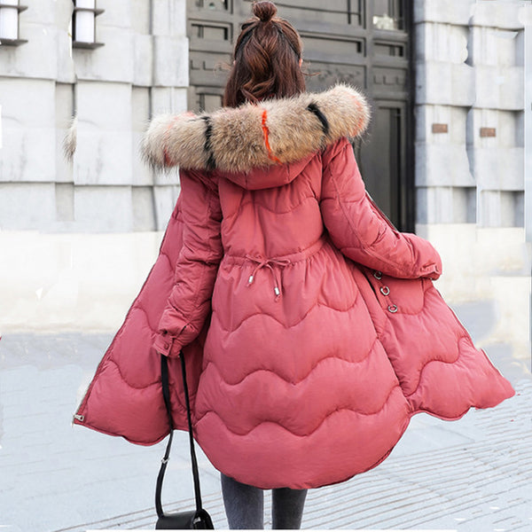 Faux Fur Parkas Women Down Jacket New 2018 Winter Jacket Women Thick Snow Wear Winter Coat Female Jackets Parkas plus size 3XL