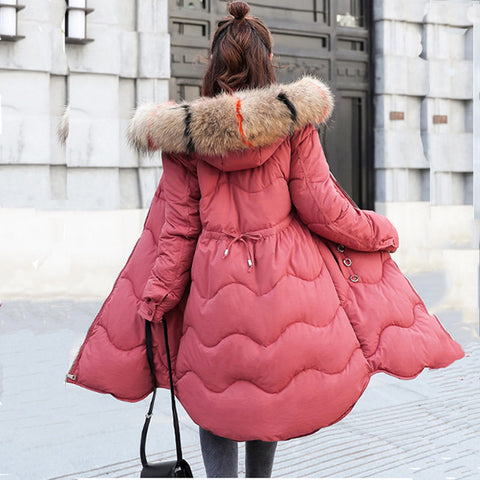 0d7c39ddbed Faux Fur Parkas Women Down Jacket New 2018 Winter Jacket Women Thick Snow  Wear Winter Coat
