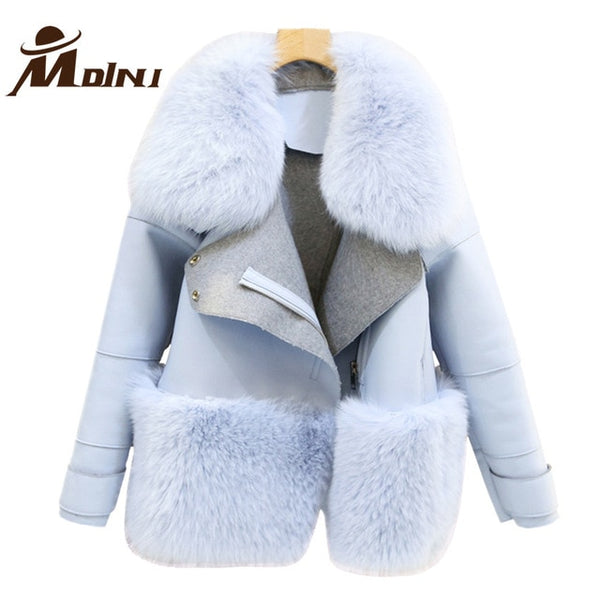 Fur & Faux Fur Coat For Women Denim Tops & Jacket Female Artificial Sheepskin Coats Fluffy Rabbit Fashion Online Shop Clothing