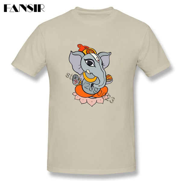 Ganesha Men T Shirt 2017 New Trendy Tee Shirts Male Short Sleeve O Neck Plus Size Clothes For Teenage