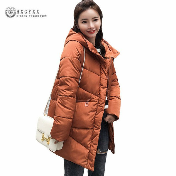 Hooded Long Down Parka Female Quilted Jacket Woman Winter Coat Cotton Padded Thick Warm Outwear Plus Size 2020 Snow Wear Okd378