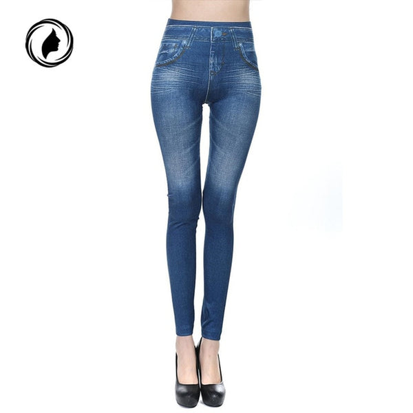 Hot Jeans for Women Denim Pants with Pocket Pull Cashmere Body Imitation Cowboy Slim Leggings Women Fitness Plus Size 2020 New