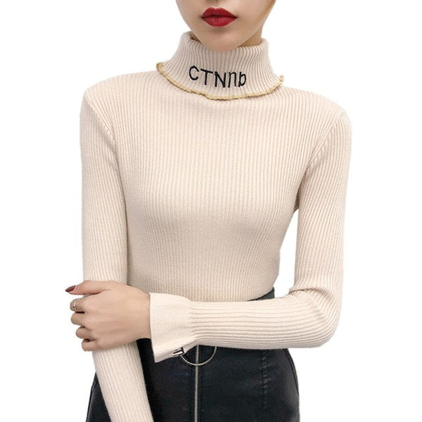 ac924a50981e Lace Patchwork Off Shoulder Sweater Women Autumn Winter Korean Fashion Sexy  Big V Neck Sweater Knitting