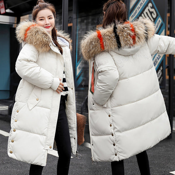 Long Thickening Bread Serve Jacket Winter Coat Women Loose Cotton Plus Size 3xl Berserk Basic Outerwear Snow Wear