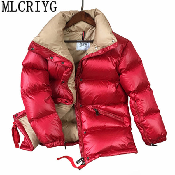 2020 Winter Duck Down Jacket Women Thick Warm Coats Glossy Women's Down Coats and Jackets Parkas chaqueta mujer YQ288