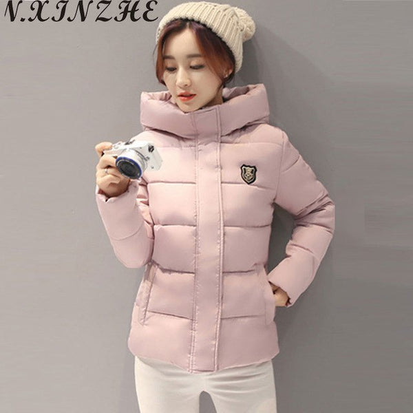 Winter jacket women Coat Hooded Slim Wadded Parkas 2017 Wear Winter Coats Outwear for Lady chaqueta mujer Plus Size 3XL