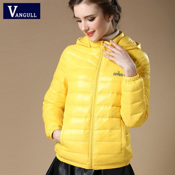New 2016 Winter Autumn Women 90% White Duck Down Jacket Women's Hooded Light Down Jackets Warm Winter Coat Parkas High Quality