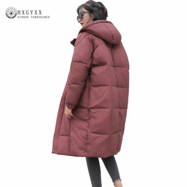 New 2020 Winter Jacket Coat Women Cotton Parka Plus Size Warm Long Loose Hooded Snow Wear Cotton Padded Quilted Jacket Okd258