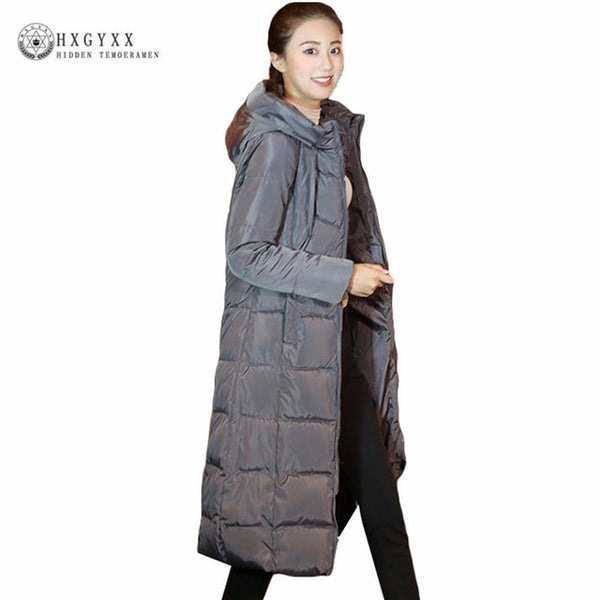 New 2018 Woman Winter Jacket Coat Down Parka Plus Size Long Warm Hooded Coat Thickening Snow Wear Wadded Padded Jacket Okd294