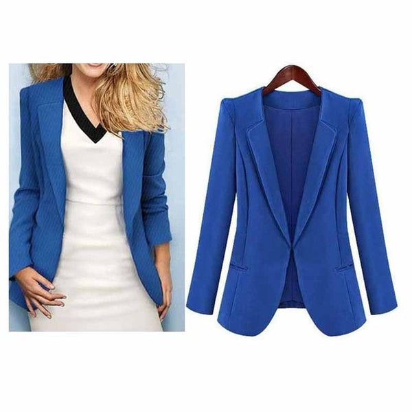 New Fashion Women OL Blazer Suit Jackets Coat Slim Thin Cardigan Outwear Coats Business Ladies Leisure Blazer WDC458