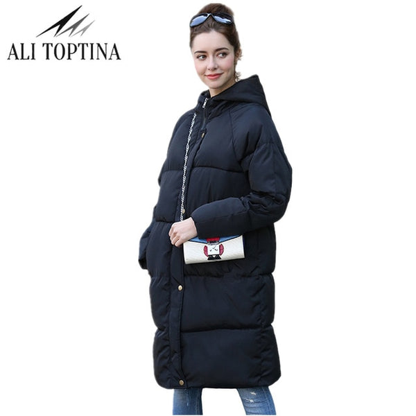 New Thickening 2020 women Parka winter jacket coat down plus size long warm hooded snow wear loose wadded padded quilted jacket