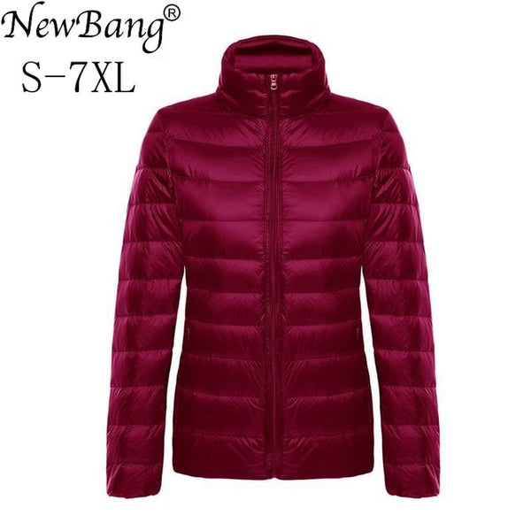 NewBang Brand 6XL 7XL Plus Women' Down Coat Ultra Light Down Jacket Women Feather Overcoat Lightweight Windbreaker Coats