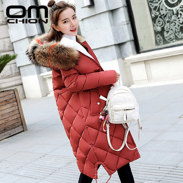 Chaqueta Mujer 2020 Large Faux Fur Winter Jacket Women Thicken Hooded Down Cotton Padded Coat Plus Size Parka XXXL NY15