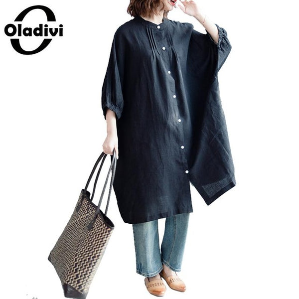 Brand Oversized Shirt Plus Size Women Clothing Ladies Casual Loose Blouse Long Top Tees Tunics Female Casual Loose Blusa