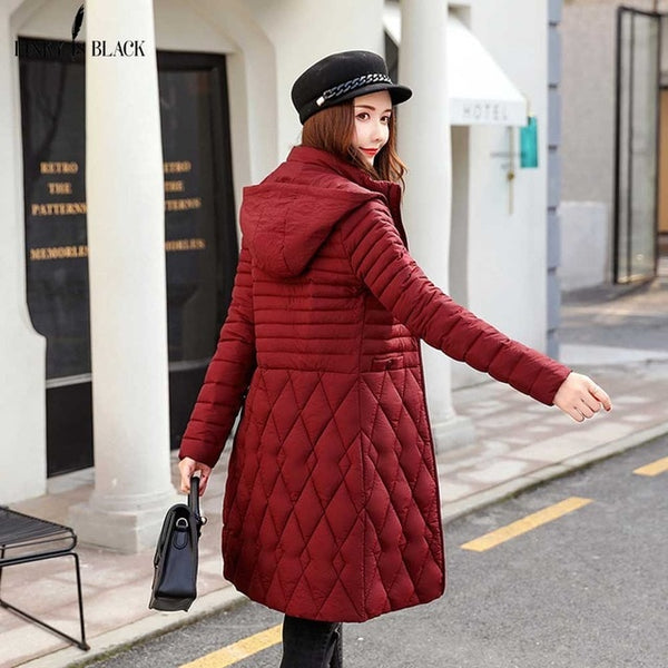 2018 Plus Size 5XL Winter Jacket Women Down Cotton Padded Coat Female Long Parkas Hooded Winter Coat Women Ourwear
