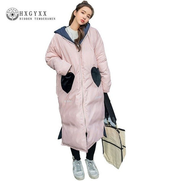 Plus Size Cotton Padded Winter Coat Female 2020 Korean Both Sides Wear Down Cotton Clothes Women Loose Thick Parka Feminina J006