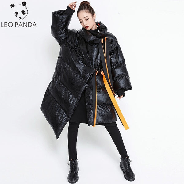 Plus Size Hip Hop 2018 Winter Street Women Down Cotton Coat New Female Loose Thicken Warm Parka Padded Irregular Jacket Ladies