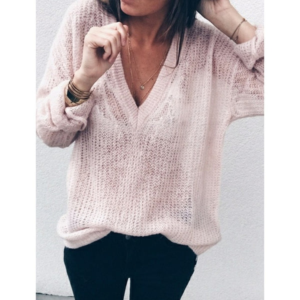 Plus size s-5xl women sweater thin pullover V Neck loose casual 2020 early Autumn sweaters pullover female clothing WS9404R