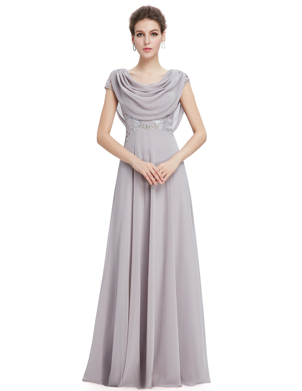 32e0565636407 Purple Evening Long Dresses Special Occasion 2018 Double Cowl Neck Beads  Formal Maxi Fashion Plus Size EP09989 Elegant dress