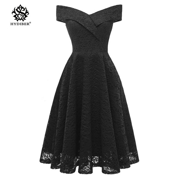 fb511ae15f72 Robe Femme Embroidery Vintage Lace Dress Women Off Shoulder Dresses short  Sleeve Casual Evening Party A