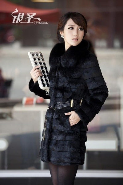 S-3XL plus size fake fox fur coat 2017 new Winter Artificial Black White Faux Fur Coat For Women with belt Fur Coats wj440