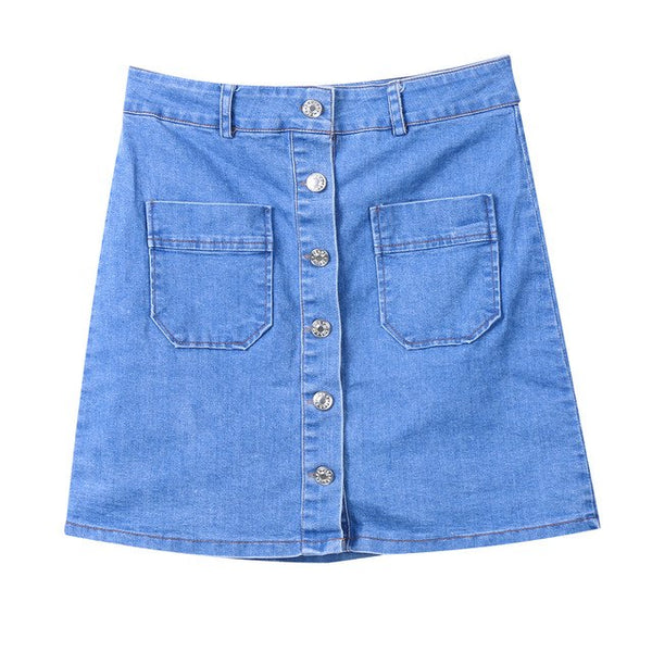 Sexy Pencil Mini Skirt High Waist Jeans Denim Skirts 2020 Women Casual Skirts Summer Fashion Bodycon Button Skirts
