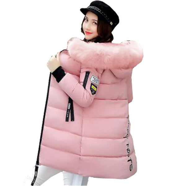 Snow Wear New 2017 Winter Women Wadded Jacket Female Outerwear Faux Fur Down Cotton Padded Coats Women Parkas Plus Size 3XL